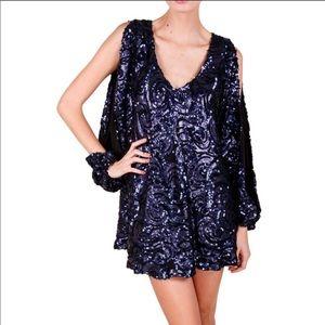 Midnight Blue Gracie Sequin Dress